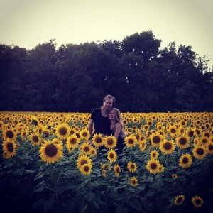 Amanda and David sunflowers